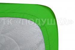 Трикотажная простынь на резинке «Зеленая»